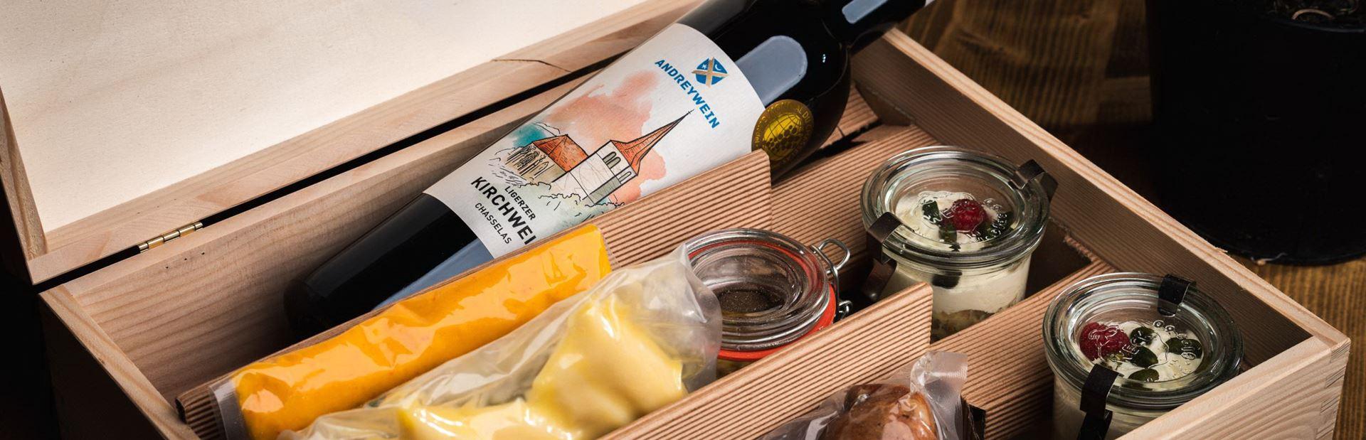 Treberwurst & Wein Box